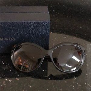 Prada cat eye polarized brown sunglasses